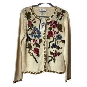 All Points by Reference Point cardigan floral NWT